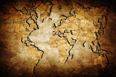 Cuadro Mapa de la tierra
