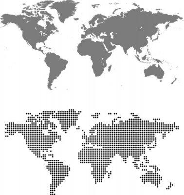 Cuadro mapa de mundo