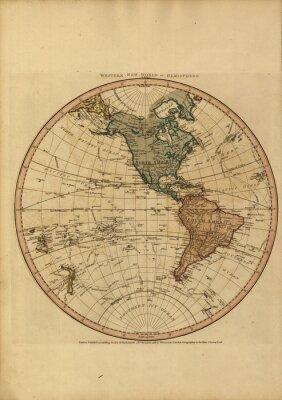 Cuadro Mapa del mundo del vintage
