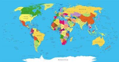 Cuadro Mapa del Mundo Político