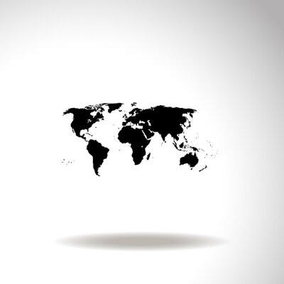 Cuadro Mapa del mundo vector icono.