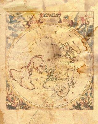 Cuadro mapa del vintage del mundo