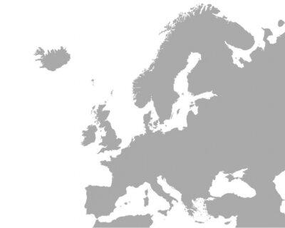 Cuadro mapa detallado de Europa