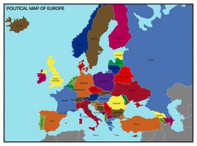 Cuadro Mapa político de Europa