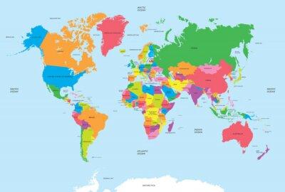 Cuadro Mapa político del vector del mundo