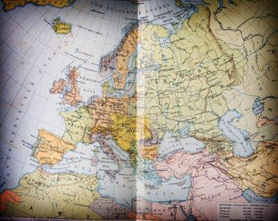 Cuadro mapbook geográfica siglo XIX viejo abierto