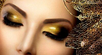 Cuadro Maquillaje Glamour Moda. Holiday Gold Brillantes sombras de ojos