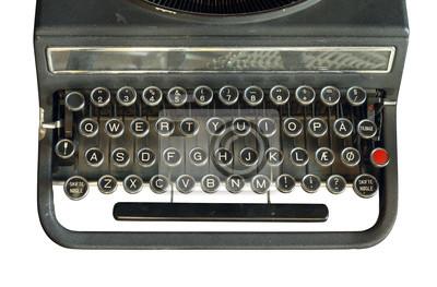 Máquina de escribir aislado en el fondo blanco pinturas para la ... 66c87c0b1b23