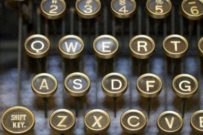 Cuadro Máquina de escribir / llaves