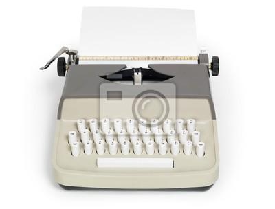 Máquina de escribir retro aislado con trazado de recorte pinturas ... fe19acf9739e