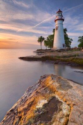 Marblehead Lighthouse on Lake Erie, USA at sunrise