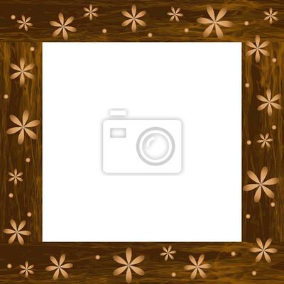 Marco de fotos de madera con flores talladas pinturas para la pared ...