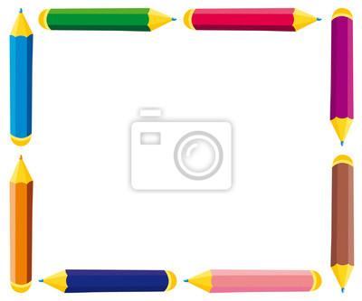 Marco de lápices de colores pinturas para la pared • cuadros ...