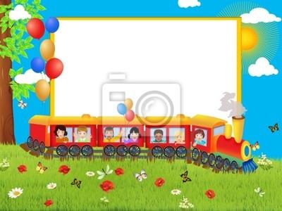 Marco de los niños, tren pinturas para la pared • cuadros Publicidad ...