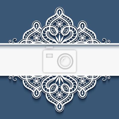 Marco de papel ornamental con borde de encaje pinturas para la pared ...