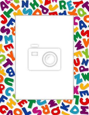 Marco del alfabeto. copie el espacio para la escuela, carteles ...
