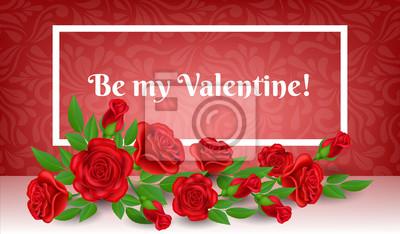 68beca93f8db5 Cuadro Marco del día de tarjeta del día de San Valentín con la flor y la