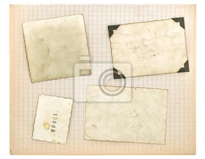 Marcos de fotos vintage y página del libro de matemáticas. textura ...