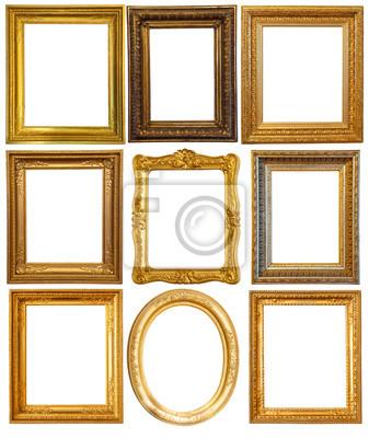 Marcos dorados de lujo pinturas para la pared • cuadros dorado ...