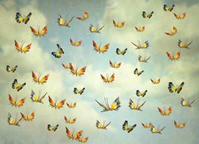 Cuadro Mariposas en el cielo