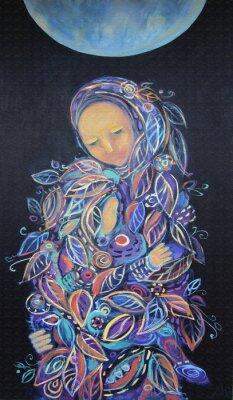 Cuadro Maternidad. Modelo de la hoja.