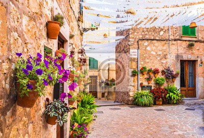 Mediterráneo pueblo viejo Valldemossa Mallorca España
