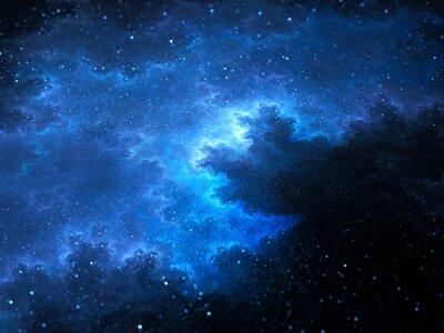 Cuadro Megical espacio nebulosa fractal con estrellas