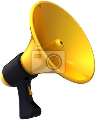 Mensaje Megáfono blog de noticias. Shiny sirena negro amarillo
