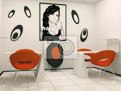 Mesa De Manicura En El Salon De Belleza Pinturas Para La Pared