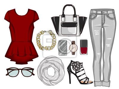 04d55efcb Cuadro Moda conjunto de ropa de mujer