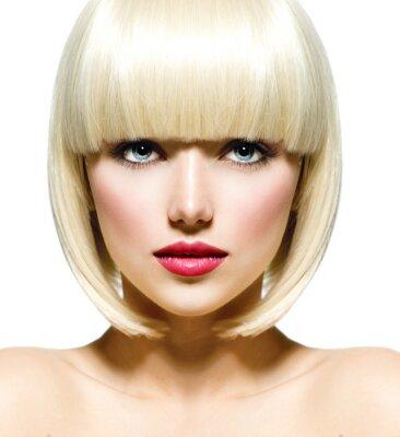 Cuadro Moda elegante retrato de la belleza. De la muchacha hermosa cara Close-up