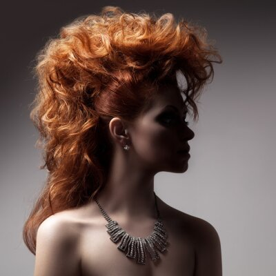 Cuadro Moda Retrato De La Mujer De Lujo Con Joyería.