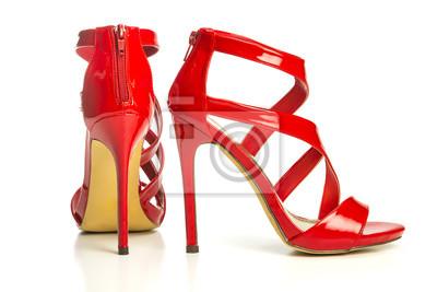 En Altos Rojo Brillante Sandalias CuadroModa Strappy Tacones De j5A3q4RL