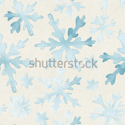 Cuadro Modelo de la acuarela en la textura del papel Fondo de navidad