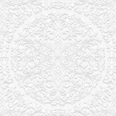 Cuadro Modelo floral inconsútil en estilo tradicional