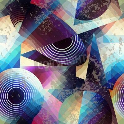 Cuadro Modelo inconsútil del fondo. Modelo geométrico abstracto en estilo del cubismo.