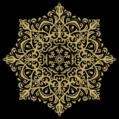 Cuadro Modelo oriental del damasco