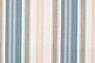 Cuadro Modelo rayado azul y marrón de la materia textil como fondo. Cierre en franjas verticales diferentes textura material de la tela.