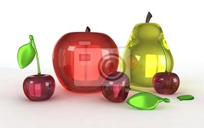 Modelos de cristal de frutas pinturas para la pared cuadros