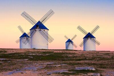 Cuadro Molino de viento en Campo de Criptana, La Mancha, España