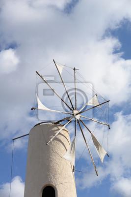 Molino de viento en Creta