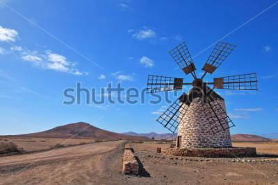 Cuadro Molino de viento en Fuerteventura, Islas Canarias, España