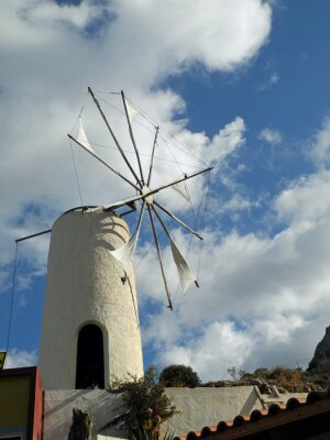 Molino de viento en la meseta de Lasithi