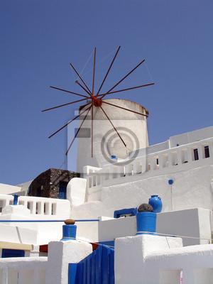 Molino de viento en Santorini
