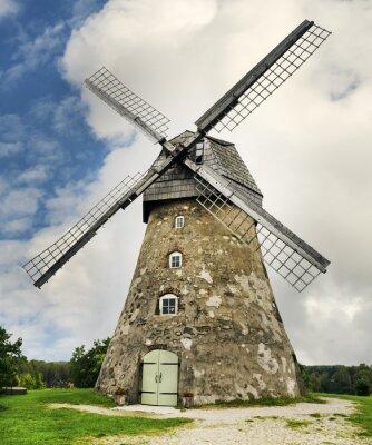 Molino medieval en la aldea de Araishi, Letonia