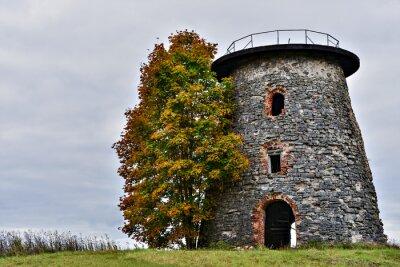 Molino medieval en la aldea de Araishi, Letonia, Europa