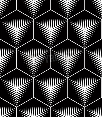 Monocromo modelo geom trico abstracto ilusoria for Cuadros con formas geometricas