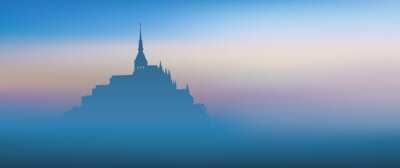 Cuadro Mont Saint Michel - panoramique - Aube
