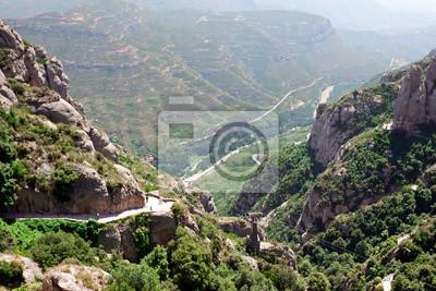Montañas de Montserrat en Cataluña, España