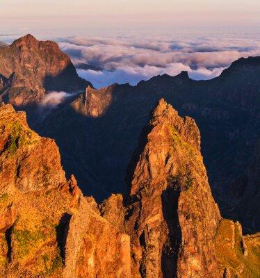 Cuadro Montañas en Madeira